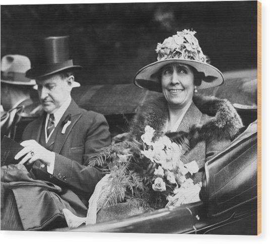 President And Mrs. Coolidge Wood Print