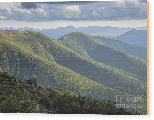 Presidential Range - White Mountains New Hampshire Wood Print