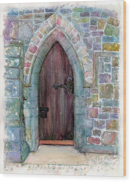 Prince Door Wood Print