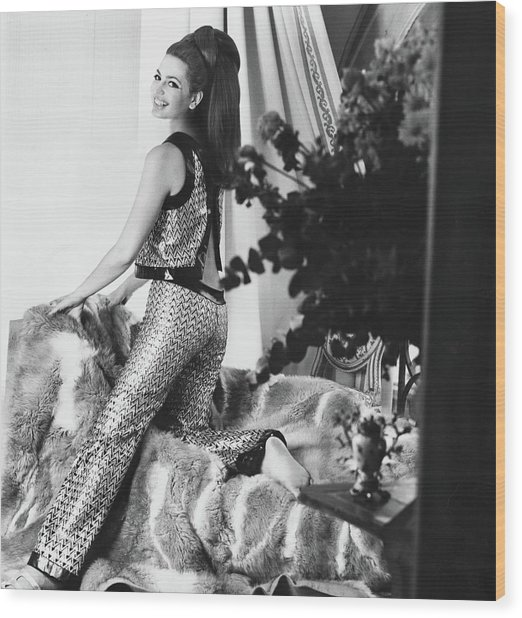 Princess Ira Furstenberg Wearing Ungaro Wood Print