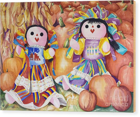 Pumpkin Patch Party Wood Print