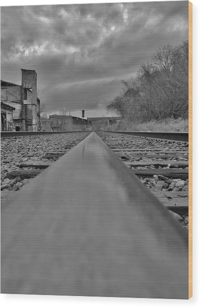 Rail Line Wood Print