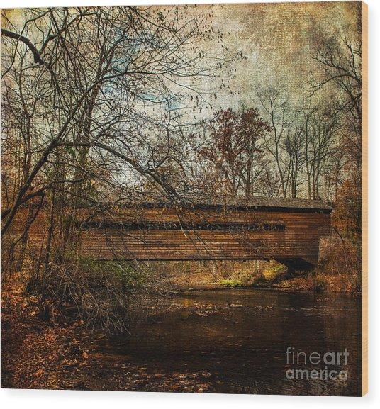 Rapps Dam Covered Bridge Wood Print