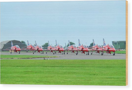 Red Arrows Wood Print by James Lucas