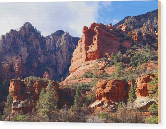 Red Rock Country Landscapes Wood Print