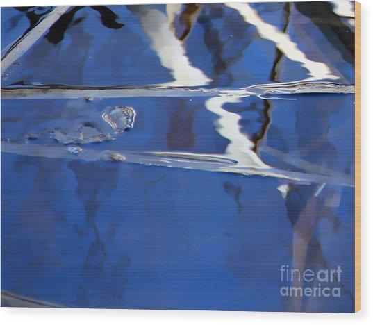 Reflections Blue Wood Print