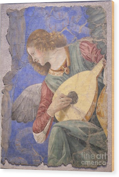 Renaissance Lute Player Wood Print