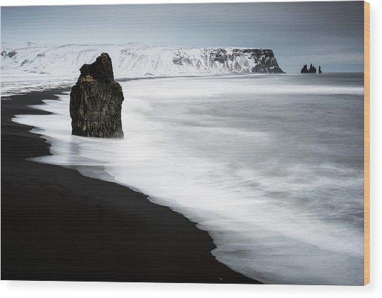 Reynisdrangar Sea Stacks Wood Print