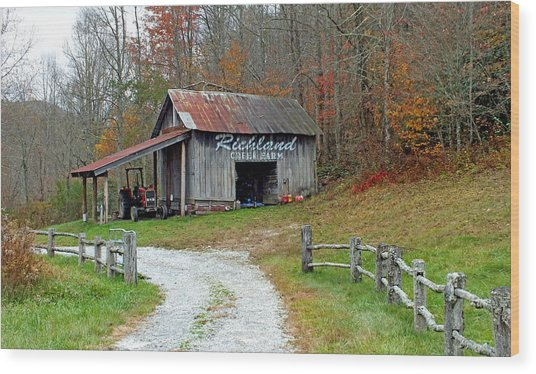 Richland Creek Farm Barn Wood Print