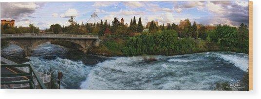 Riverflow Wood Print by Dan Quam