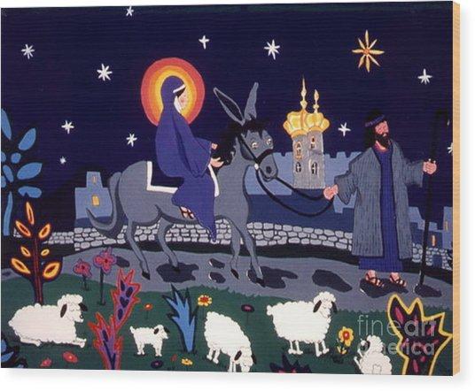 Road To Bethlehem Wood Print