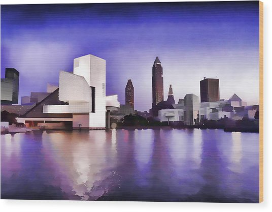 Rock And Roll Hall Of Fame - Cleveland Ohio - 3 Wood Print