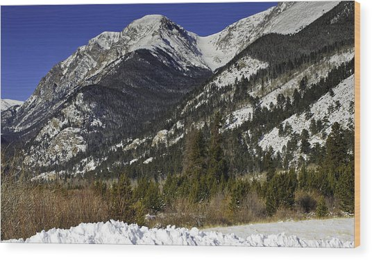 Rockies Wood Print by Tom Wilbert