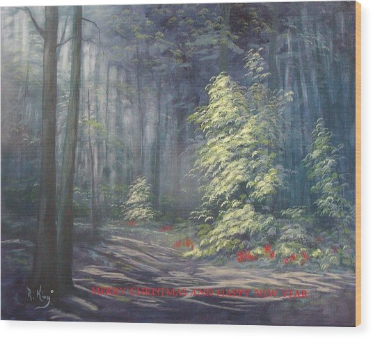 Roena King - Christmas Light Wood Print