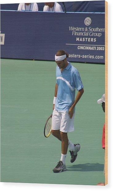Roger Federer After 1st Slam Wood Print