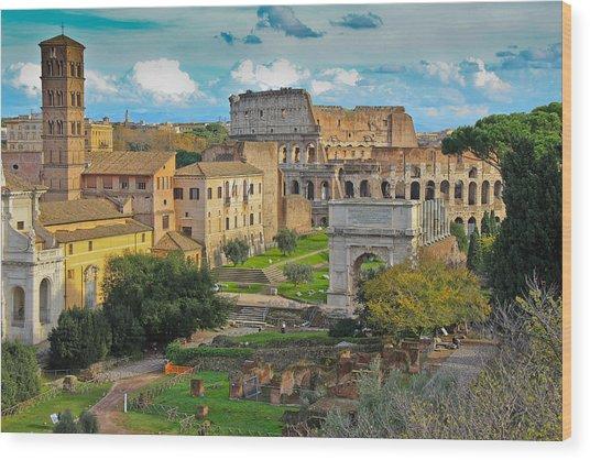 Roman Forum Wood Print