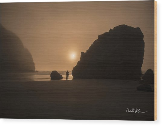 Ruby Beach Sunset Wood Print