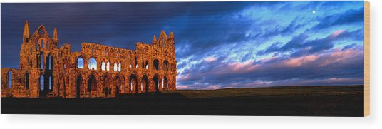 Ruins Of A Church, Whitby Abbey Wood Print