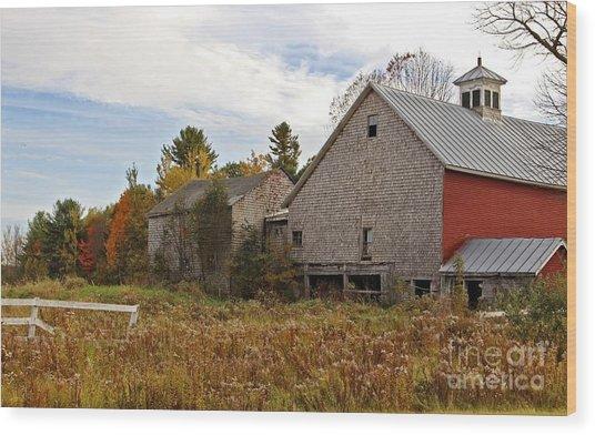 Rural View Wood Print