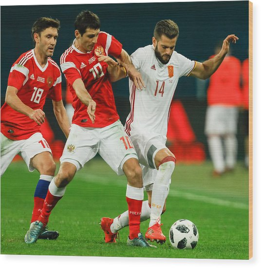 Russia Vs Spain - International Friendly Wood Print by Epsilon