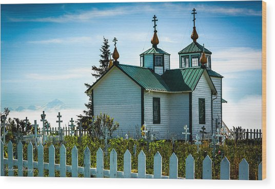 Russian Orthodox Church Wood Print