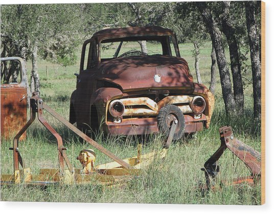 Rust In Peace No. 2 Wood Print