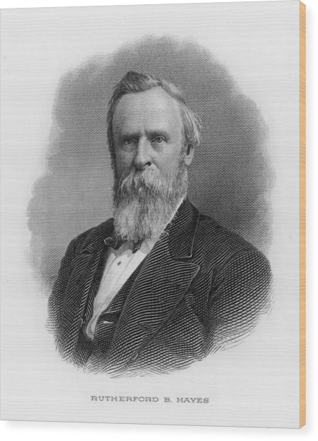 Rutherford Birchard Hayes  19th Wood Print by Mary Evans Picture Library