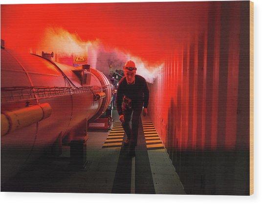 Safety Training At Cern Wood Print by Cern