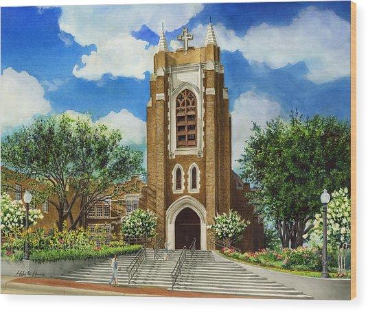 Saint Andrews Episcopal Church Bryan Texas Wood Print