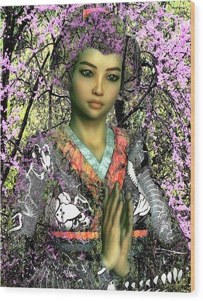 Saint Lucy Yi Zhenmei Of China Wood Print