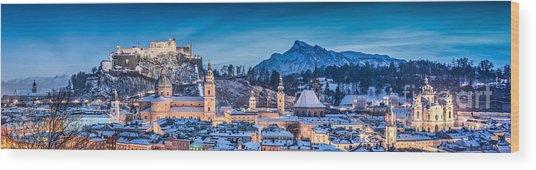 Salzburg Winter Romance Wood Print