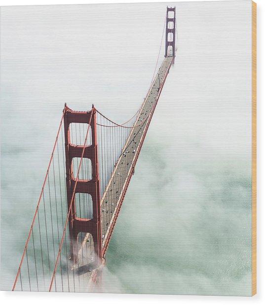 San Francisco Golden Gate Bridge Wood Print by Franckreporter