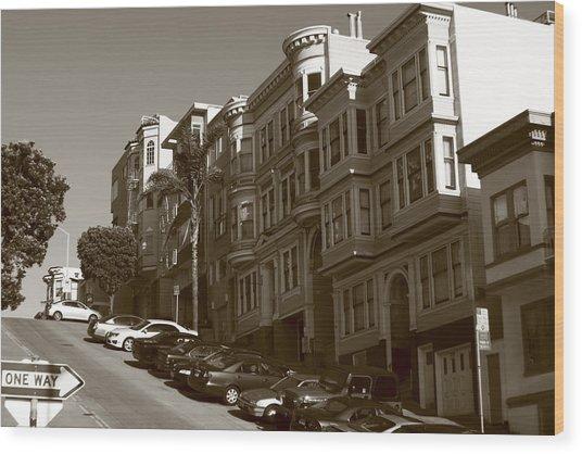 San Francisco Hills  Wood Print