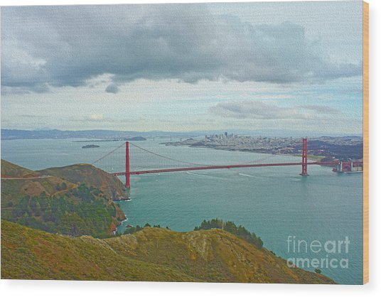 San Francisco Wood Print by Nur Roy