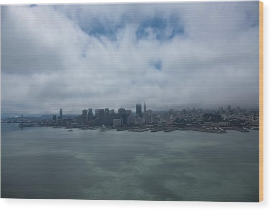 San Francisco Skyline Wood Print by Steven Lapkin