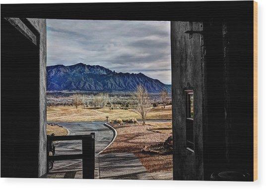 Sandia Mountains Wood Print