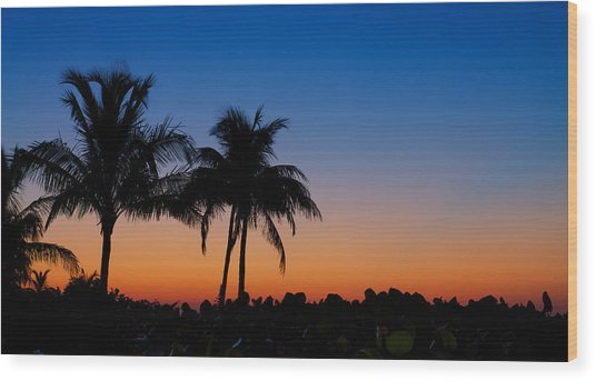 Sanibel Island Florida Sunset Wood Print