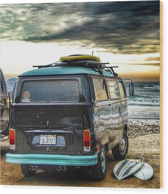 Sano Surf Bus And Boards Wood Print