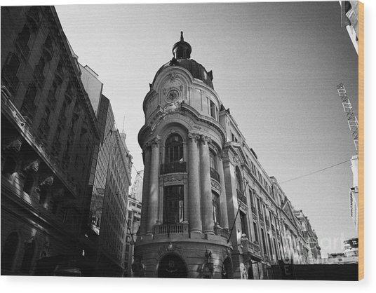 Santiago Stock Exchange Building Chile Wood Print by Joe Fox