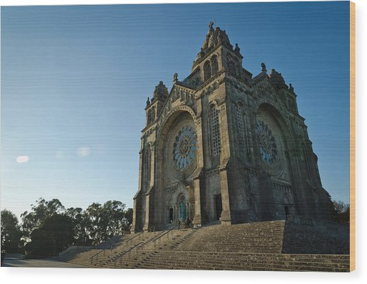 Santuario Do Sagrado Coracao De Jesus Wood Print