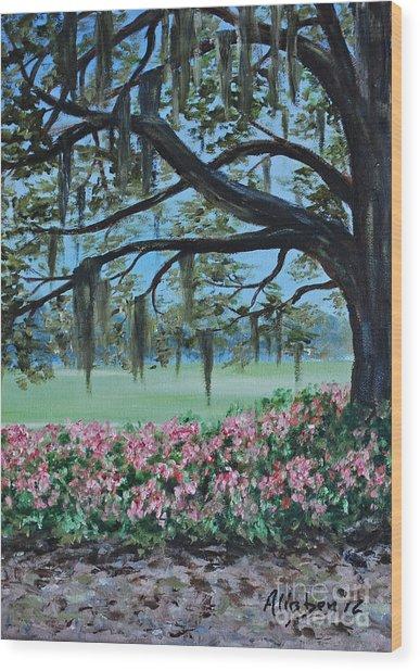 Savannah Spring Wood Print