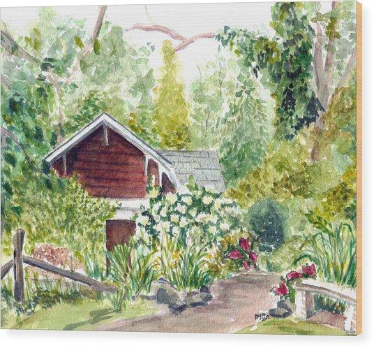 Sayen Woods Wood Print