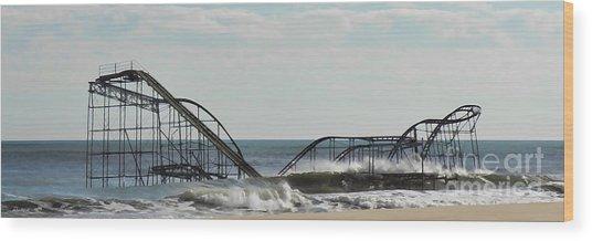 Seaside Heights Roller Coaster  - Paint Wood Print