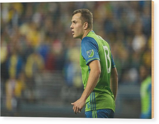 Seattle Sounders V Club America - Concacaf Champions League Wood Print by Matthew Ashton - AMA