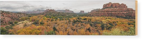Sedona Panorama Wood Print