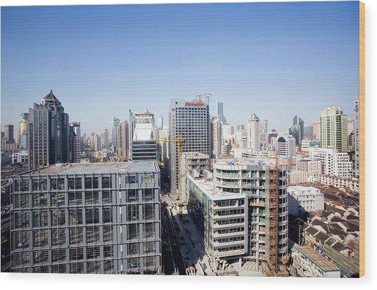 Shanghai Wood Print by Adam Hart-davis/science Photo Library