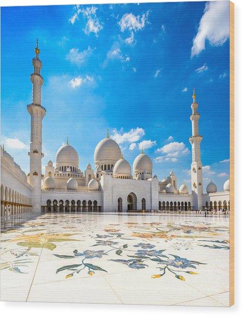 Sheikh Zayed Mosque - Abu Dhabi - Uae Wood Print