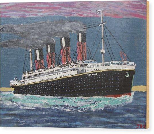 Ship Of Dreams Wood Print by Jose Bernal