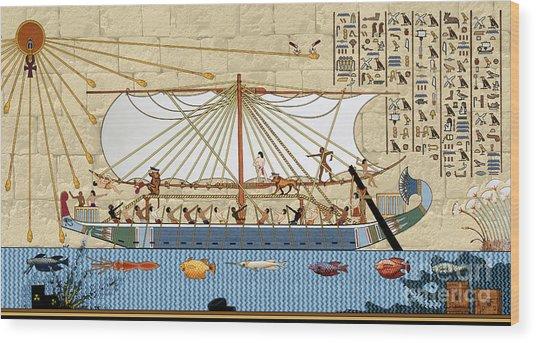 Ship Of Fools Wood Print