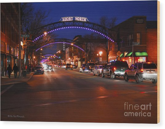 D8l353 Short North Arts District In Columbus Ohio Photo Wood Print